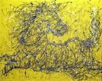 kuda, uk. 100 x 80 cm,  Terjual