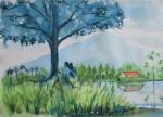landscape 1, watercolor A3 2013