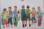 childrens, watercolor A3 2013