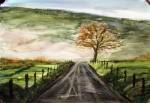 road 3, watercolor A3 2013