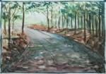 road 1, watercolor A3 2013